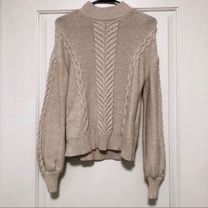 Gap Women Chunky Cable-Knit Mockneck Sweater